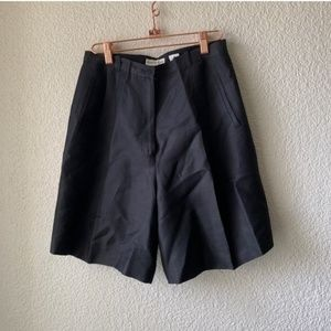 Black Ann Taylor High Waisted Formal Shorts 8